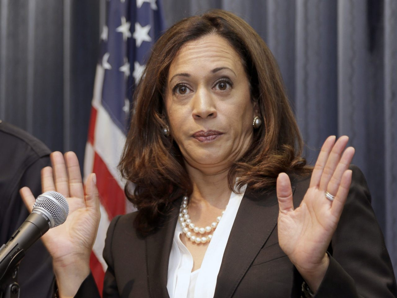 "Kamala Harris accused of keeping blacks jailed to provide ""slave wage labor"" to the state of California"