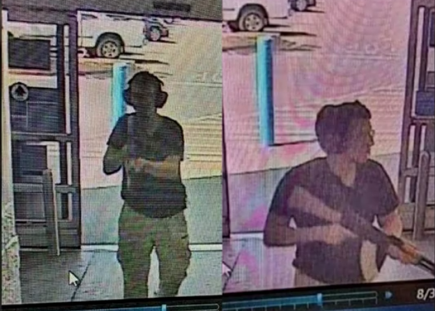 First surveillance image of the El Paso Wal-Mart mall shooter emerges: He's carrying an AK-47 and wearing glasses and hearing protection