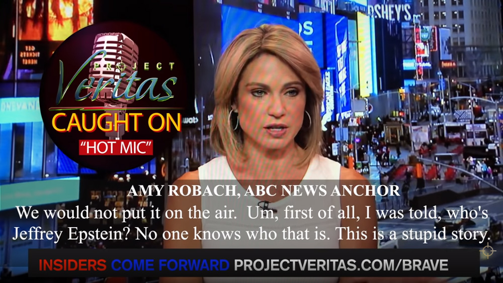 ABC News anchor admits coordinated cover-up of Jeffrey Epstein rapes by mainstream media; news outlets complicit in repeated child rape crimes